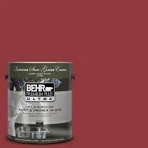 Red BEHR exterior paint
