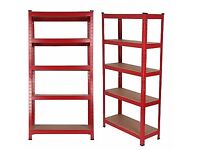 5 tier strongly heavy metal red racking storage- used and in very good condition!