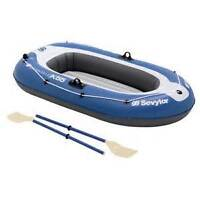 sevylor inflatable boat with oars and foot pump
