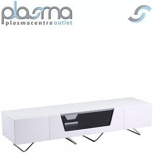 "Alphason Chromium White TV Stand for up to 75"" TVs"