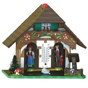 Traditional Wood Weather House Chalet Quality New