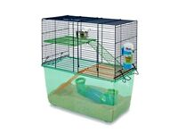 2 Female Gerbils with accessories and cage