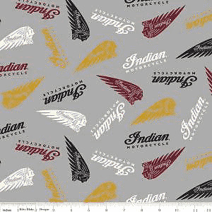 100% Cotton INDIAN MOTORCYCLE FABRICS (various prints)