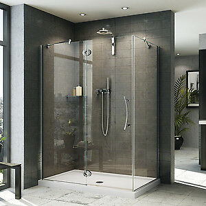 Complete Frameless Shower Enclosure and Base for sale