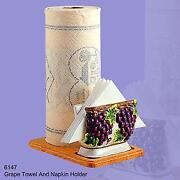 Grape Paper Towel Holder