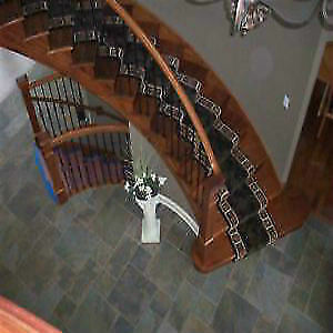 Supply and install Runner with underpad on stairs