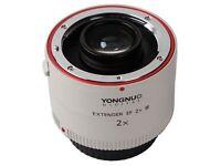 Yongnuo YN-2X III Teleconverter Extender Auto Focus Lens for Canon EOS EF Camera