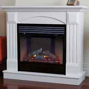 Wanted White Electric Fireplace
