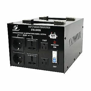 VOLTAGE CONVERTER 5000 WATTS 110/220-220/110 STEP UP/STEP DOWN