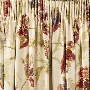 Laura Ashley RMC Curtains Gosford Paprika Length 183cm In