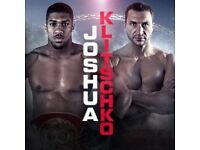 joshua vs klitschko Tickets