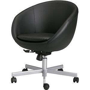 ikea skruvsta egg cup swivel office chair black leather in chichester west sussex gumtree. Black Bedroom Furniture Sets. Home Design Ideas