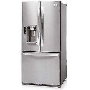 "LG AND SAMSUNG STAINLESS 36"" WIDE FRIDGES!"
