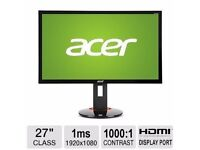 ACER XB270H ABPRZ 27-INCH DISPLAY FULL HD NVIDIA G-SYNC (1920 X 1080) WIDESCREEN MONITOR