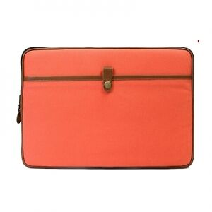 PKG RED CROWN COLLECTION MANGO CANVAS LEATHER LAPTOP/MAC SLEEVE