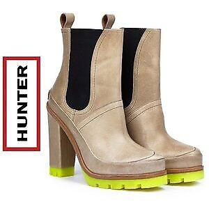 HUNTER leather high heels boots