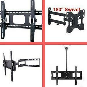 Black Friday sale ! Fixed TV Wall Mount Bracket, Tilt TV Mount, Full motion TV Mount, DVD Shelf, Ceiling TV Mou