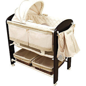 Beautiful Wood Baby Bassinet - Like NEW!