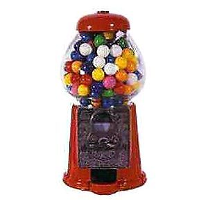 Vintage gumball machine with operational coin slot!