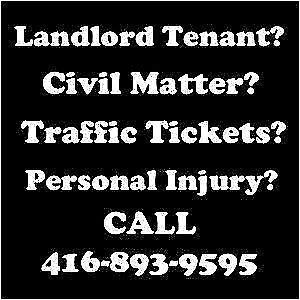 Licensed Paralegal/Lawyer - Landlord Tenant- Traffic - Basement
