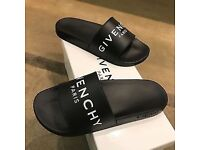 Givenchy slides (black and white ) size 8-9 unisex