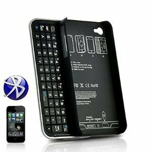 Bluetooth Wireless Slider QWERTY Keyboard Case for iPhone 4
