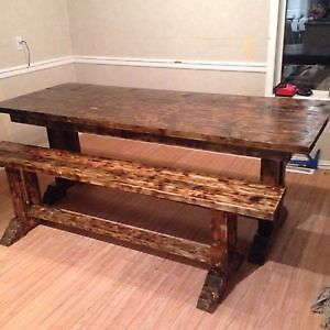 Country style table set. Custom hand crafted