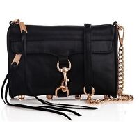 Rebecca Minkoff MINI M.A.C. (Black bag with gold accents)
