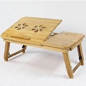 Bamboo Foldable Laptop Table W/ Cooling Fan Salter Point South Perth Area Preview