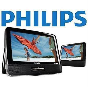 "notax sale-philps-DVD player 9"" dual screen in box warranty-$79."