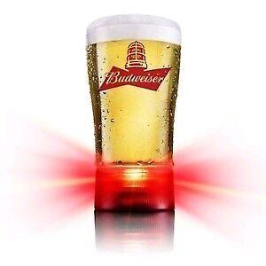 Bud Red Light Beer Glasses