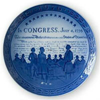 1776-1976 Royal Copenhagen Jubilee plate, Commemorates the Bicen