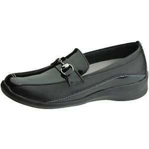 Aetrex Essence E240 Womens Black Comfort Slip On Shoes