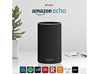 BNIB Sealed Amazon Echo (2nd generation), Charcoal Fabric