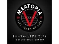 Meatopia 2017 - Tobacco Dock London - x2 tickets - Saturday admission