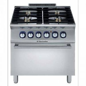 Commercial  4 Burner Gas Oven Electrolux 700X E7GCGH4CGA As New!!