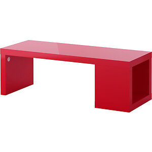 Ikea red coffee table- very solid and perineum quality