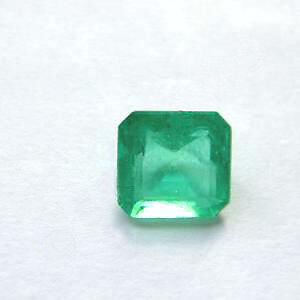 0.72 ct Natural Green Colombian Emerald Certificate