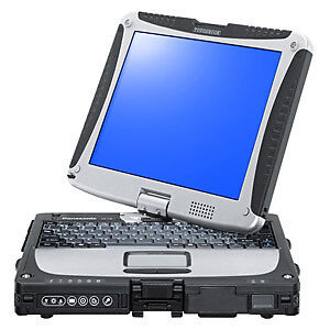 Panasonic Toughbook CF-19 Tablet laptop Wifi Window7 500GB GPS