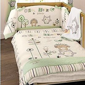 olive and henri babies r us bed set with curtains and lampshade