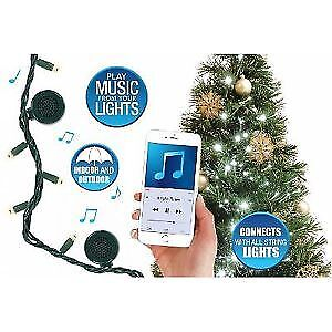 LED Multi-Colored 80 Bulbs, M5 Bulb, 26ft, 4 Bluetooth Speakers