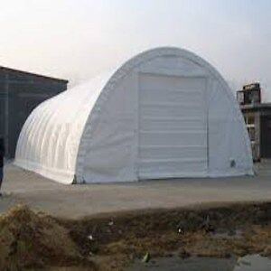Fabric Storage Building L65' X W30' X H15' Polyethylene