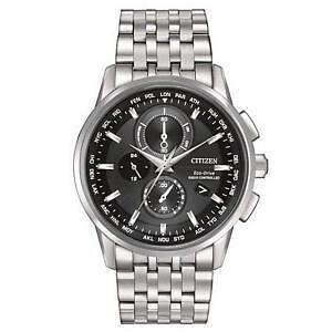 Citizen Mens World Chronograph A-T AT8110-53E Wrist Watches, Bl