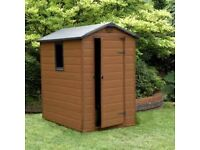 ketter 6x4 plastic shed with apex roof good condition dissmantled and ready to go