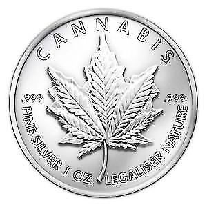 2013 Silver Cannabis Coin