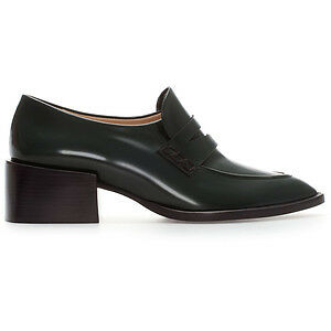 Zara Pointed Leather Moccasin Loafer
