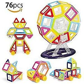 76 Pieces Magnetic Building Blocks (Brand New)