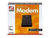 ZOOM EXTERNAL USB MODEM 56K V.92/V.90 SERIES 0390