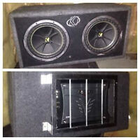 """NEED TO SELL Two 10"""" Kicker Subs with Amp"""