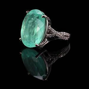 Rrp $44000 18ct White Gold 18.6ct Colombian Emerald, Diamond Ring Ballan Moorabool Area Preview